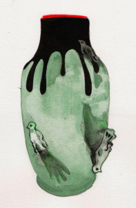 Vase 6 Oiseaux de la Manufacture des Emaux de Longwy 1798
