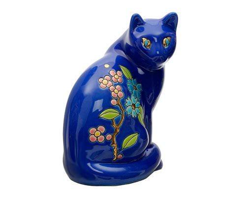 Chat Assis Standard (Fleur Bleue)