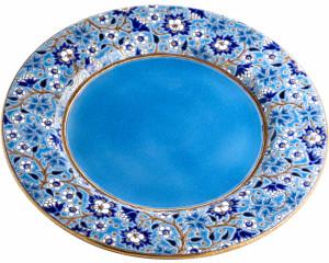 Assiette de Présentation (Héritage) Bleu