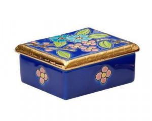 Boîte Rectangulaire PM (Fleur Bleue)