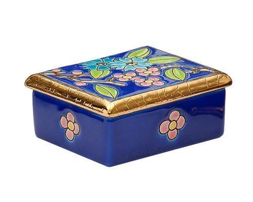 Boîte Rectangulaire P.M. (Fleur Bleue)
