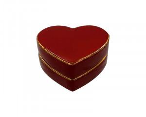 Boite Coeur plate PM Uni et Or (Coeur)