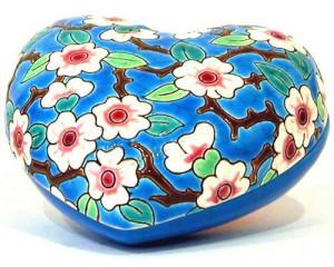 Boite Coeur PM - Fleurs de Pommiers (Tradition)