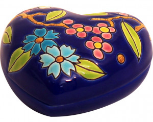 Boîte Coeur Standard (Fleur Bleue)