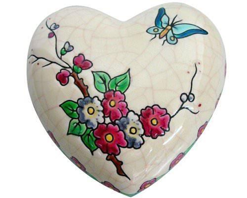 Boite Coeur Standard Fleurs et Papillon (Coeur)