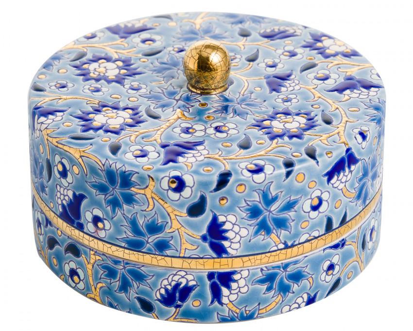 Boîte à Caviar G.M. Bleu - D5670 Mini - (Héritage)