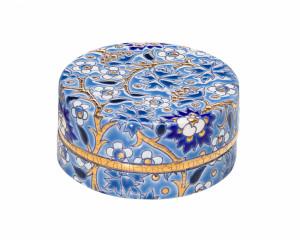 Boîte à Caviar P.M. - Décor D5670 - Bleu (Héritage)