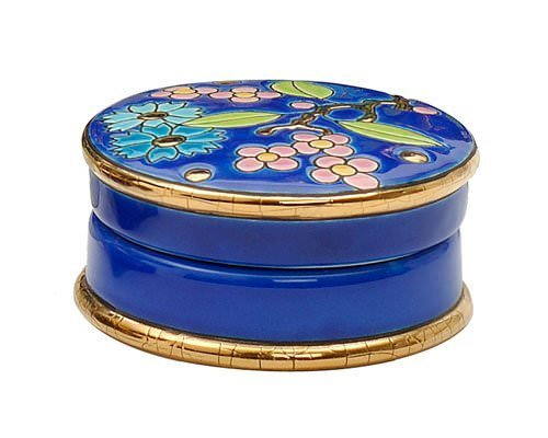 Boîte Ronde (Fleur Bleue)