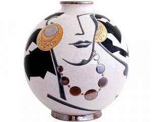 Boule Coloniale Curetti Recoloré (Femme au Collier)