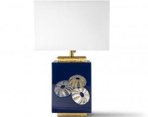 Lampe Carrée (Oursins) Bleue