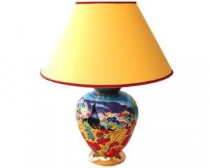 Lampe Cyclade PM (Coquelicots à Bédouin)