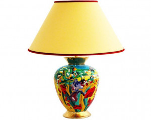 Lampe Cyclade PM (Iris et Coquelicots)
