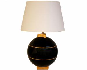 Lampe Géométrique Noire (Saturne)