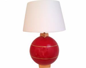Lampe Géométrique Rouge (Saturne)