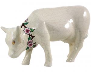 Vache Unie + Collier D188 Fleurs de Pommiers (Animaux)