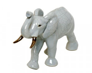 Elephant Uni et Or (Animaux)