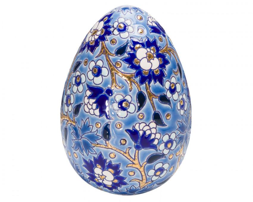 Oeuf Taille 2 Décor D5670 - Bleu (Héritage)
