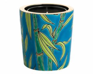 Pot à Bougie Décor Complexe + Bougie (Bambou)