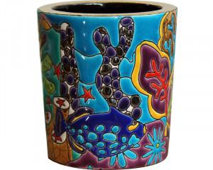 Pot à Bougie (Aqua Tropicale) Décor Complexe