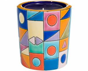 Pot à Bougie décor Complexe (Art Décool) + Bougie