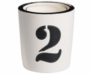 Pot à Bougie + Bougie (Number - 2)