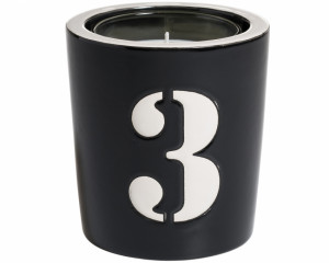 Pot à Bougie + Bougie (Number - 3)