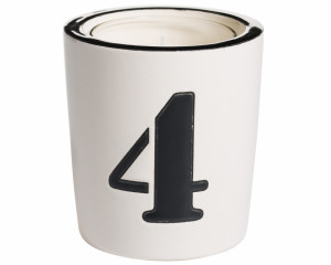 Pot à Bougie + Bougie (Number - 4)