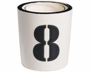Pot à Bougie + Bougie (Number - 8)