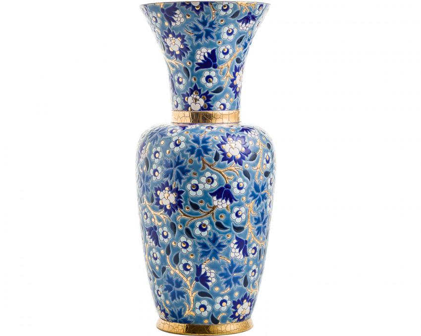 Vase à Col P.M. Bleu - D5670 - (Héritage)