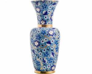 Vase à Col P.M. (Héritage) Bleu