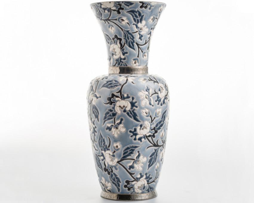 Vase à Col P.M. Gris - D5675 - (Héritage)