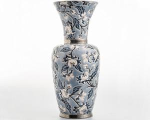 Grand Vase à Col (Héritage) Gris