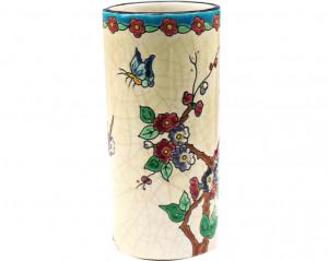 Vase Cornet Standard Fleurs et Oiseaux (Tradition)