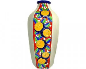 Vase Octogonal Mandarines (Art déco)