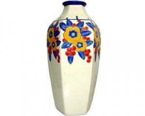 Vase Octogonal Primevères (Art déco)