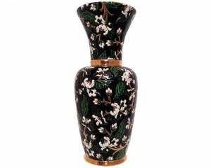 Grand Vase à Col (Héritage) Noir