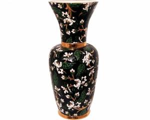 Vase à Col P.M. (Héritage) Noir
