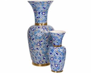 Grand Vase à Col (Héritage) Bleu