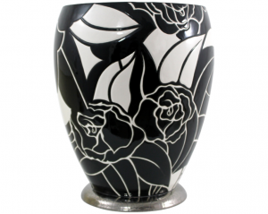 Grand Vase Ouvert Curetti (Rose Noire)