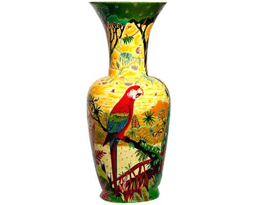 Grand Vase à Col (Oiseaux d'Amérique)
