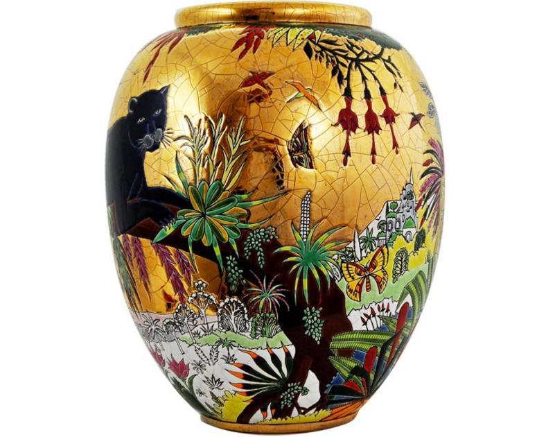 Grand Vase (Les Panthères)