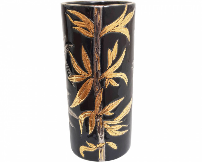 Vase Cornet H 20 cm (Bambou) Noir