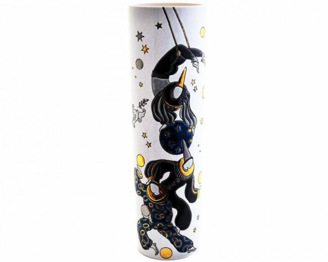 Vase Colonne PM (Acrobates Recoloré)