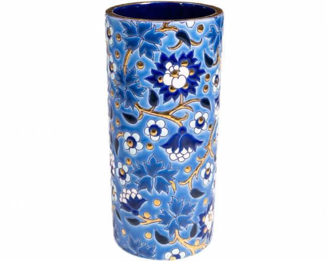 Vase Cornet H 14 cm - (Héritage) Bleu