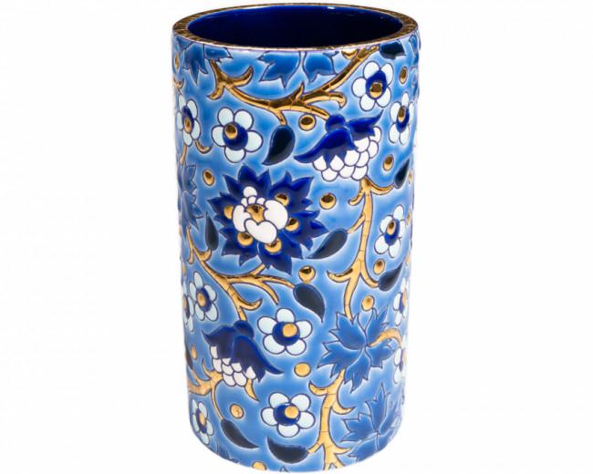 Vase Cornet H 17 cm - (Héritage) Bleu