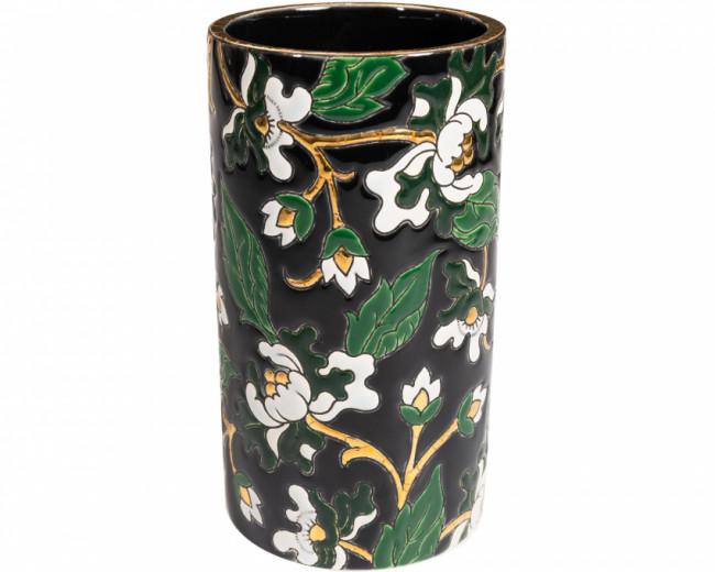 Vase Cornet H 17 cm - D5675 Noir (Héritage)