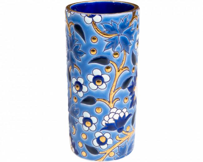 Vase Cornet H 20 cm - (Héritage) Bleu