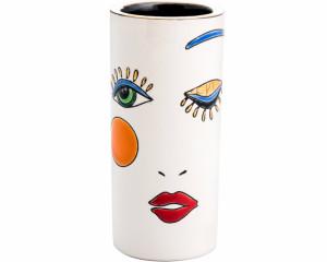 Vase Cornet . H. 14 cm (Happy Face)