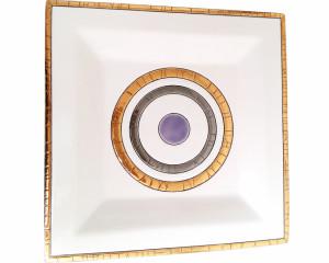 Cendrier Carré G.M. Centre violet (Géo)