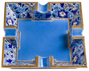 Cendrier Carré Evasé à Cigare D5670 - Bleu (Héritage)